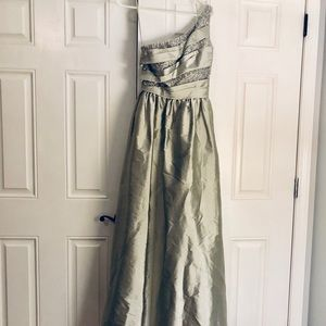 Silver Floor Length Formal JS Boutique Dress